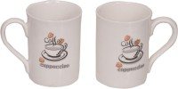 Elite Handicrafts Coffee_EHCC017 Ceramic Mug (330 Ml, Pack Of 2)