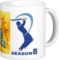 Exoctic Silver Chennai Super King IPL Series XXX 044 Ceramic Mug (300 Ml)