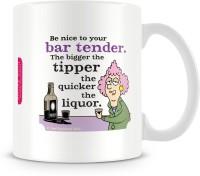 Aunty Acid Be Nice To Your Bar Tender Ceramic Mug (325 Ml)