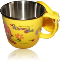 DRL DRL Yellow Girl Mug Plastic, Stainless Steel Mug (150 Ml)