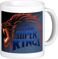 Exoctic Silver Chennai Super King IPL Series XXX 043 Ceramic Mug (300 Ml)