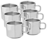Sp Steel Sp Sobar Tea Cup -103 Stainless Steel Mug (150 Ml, Pack Of 6)