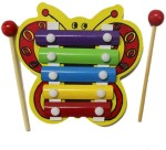 Tootpado Musical Instruments & Toys Tootpado Cute Butterfly Design Wooden Xylophone for Kids Musical Toy