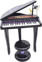 Buddyfun Electronic Symphonic Piano / Key Board Organ – Educataional Musical Toy With Mp3 Plug-In Option + Sing-Along Microphone (Black)