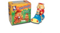 DinoImpex Study Owl ( Light And Music Bump And Go Action) Toy (Multicolor)