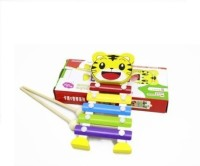 Shopaholic Tiger Shape Xylophone (Multicolor)