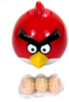 New Pinch Funny Angry Bird Lays Eggs Light Sound Battery Operated Toy (Multicolor)