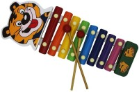 Shopaholic Cute Tiger Handle Xylophone (Multicolor)