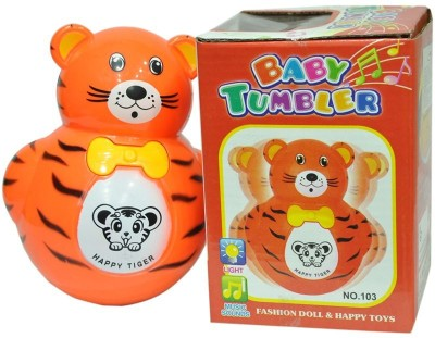 New Pinch Baby Tumbler Music Animal Roly-Poly Toy (Multicolor)