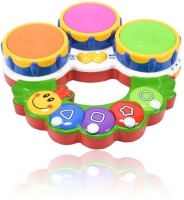 Planet Of Toys Educational Learning Musical And Lights Caterpillar Drum (Multicolor)