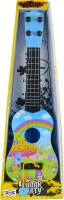 Emob 4 Tight Tunable String 40cm Long Musical Party Play Guitar Toy For Kids (Blue) (Blue, Black)