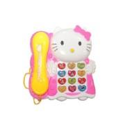RREnterprizes Musical Telephone Hello Kitty (Pink, White)