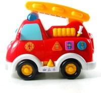 Jaibros Bilingual Intellectual Musical Fire Truck (Multicolor)