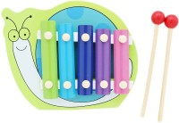 Tootpado Snail Animal Wooden Xylophone - Green - 5 Notes - Musical Toys For Kids (Multicolor)
