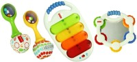 Fisher Price Musical 3 Pack Combo Gift Pack - White (White)