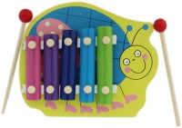 Tootpado Honey Bee Bug Animal Wooden Xylophone - Green - 5 Notes - Musical Toys For Kids (Multicolor)