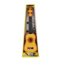 Emob 4 Tight Tunable String 40cm Long Musical Party Play Guitar Toy For Kids (Yellow) (Yellow, Black)