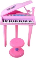 ToyTree Fun Electronic Symphonic Piano / Key Board Organ – Educational Musical Toy With Mp3 Plug-In Option + Sing-Along Microphone (Pink, Black)