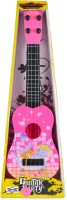 Emob 4 Tight Tunable String 40cm Long Musical Party Play Guitar Toy For Kids (Pink) (Pink, Black)