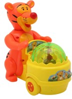 Babytintin Lucky Tiger With Light And Music Electric Toy (Multicolor)