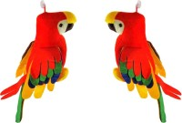 Ewi Musical Mithu Multicolor Parrot Combo Set Of 2 (Multicolor)
