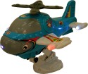 AdraxX Musical Helicopter With Flying Motion With Lights - Multicolor