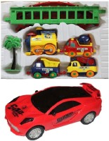 New Pinch Musical Car 3D Lights With Battery Operated Play Train (Multicolor)