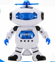 Happy Kids 360 DEGREE DANCING ROBOT WITH MUSIC AND LED LIGHTS (White)