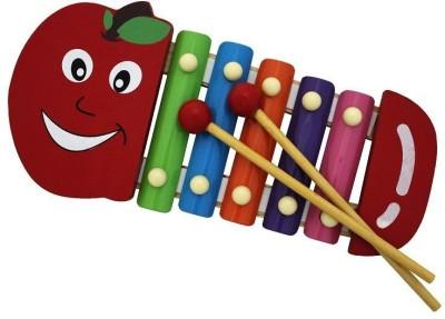 Shopat7 Cute Apple Shape Xylophone (Multicolor)