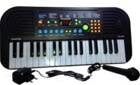 Jaibros Canto 37-Keys Electronic Keyboard Musical Piano HL-60 With FM (Black)