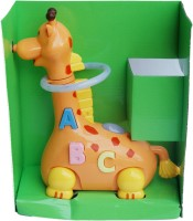 Imported Funny Musical Hula Hoop Giraffe With Colorful Lights (Yellow)
