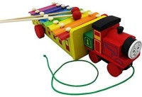 Shopat7 Thomas Train Shape Xylophone (Multicolor)