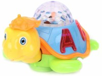 New Pinch Musical Happy Dancing With 3d Lights Turtle (Multicolor)