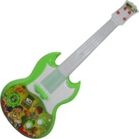New Pinch Rockband Musical Guitar For Kid Battery Operated With Pop Music Fetching Light And Sound (Multicolor)