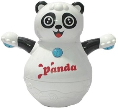 Little Grin Musical Roly Poly Panda With Projector Lighting Gift Toy For Toddlers Infants Kids (Multicolor)