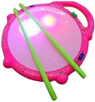 Littlegrin Flash Light Drum With Music For Kids (Multicolor)