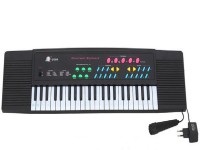 Toyzstation 37 Key Electronic Keyboard With Adaptor (Black)