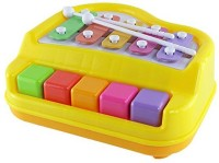 Smiles Creation Happy Xylophone + Piano Musical Toy With 2 Mallets (Multicolor)