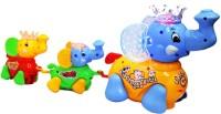 Zaprap Elephant Family Musical Toy - Multicolour (Multicolor)