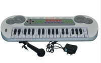 Prro 37 Keys Electronic Piano Or Keyboard With Mic & Power Adopter (Multicolor)