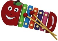 Shopat7 Apple Shape Multicolour Wooden Xylophone For Kids (Multicolor)
