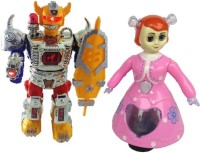 Shop & Shoppee Combo Of Musical Robot & Princess Doll (Multicolor)
