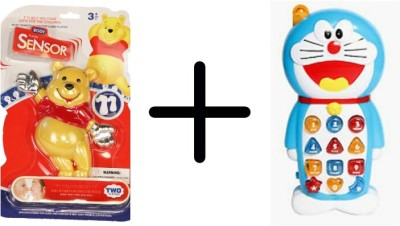 GoMerryKids Musical Instruments & Toys GoMerryKids Doraemon Musical Mobile Phone + Pooh Body Sensor Game Super Saver Offer