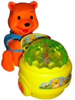 Scrazy Musical Lucky Bear Electronic Toy (Orange, Yellow)