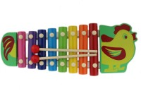 Tootpado Hen Design Colourfull & Musical Wooden Animal Xylophone Toy For Kids (Age: 3+) (Multicolor)