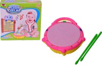 Gift World Musical Flash Drum With 2 Sticks Light Sound Battery Operated Gift Toy For Kids (Multicolor)