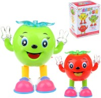 Gift World Apple Walking And Dancing Doll Battery Operated Musical Flash Light Toy (Multicolor)