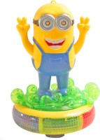 SJ Funny Minion With Light Sound Battery Operated Toy (Multicolor)