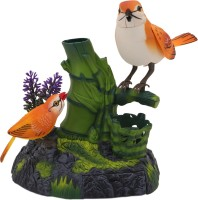 Babytintin Electric Simulation Bird (2 Sparrows), Shaking Head,tail And Real Birdie (Multicolor)