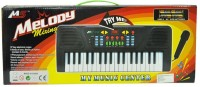 Scrazy Imported Battery Oprated Melody Musical Piano With Music (Black)
